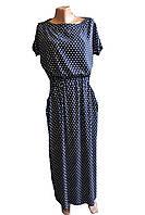 Платье в пол женское горох