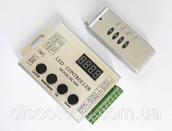Полноцветный контроллер с пультом ДУ серии MAGIC алюминиевый корпус HC008