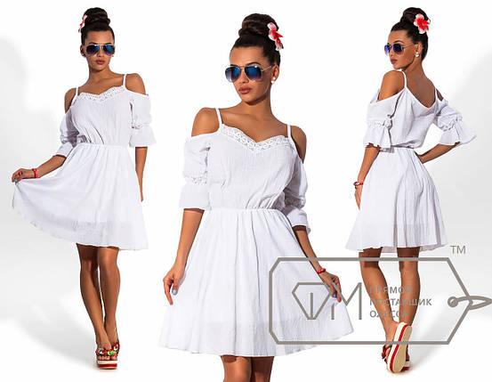 Летнее белое платье, фото 2