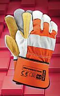 Сверхпрочная защитная  перчатки   RBPOWERSTONE  .Перчатки спилковые оптом, фото 1