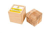 Кубасик деревянная головоломка из семи фигурок