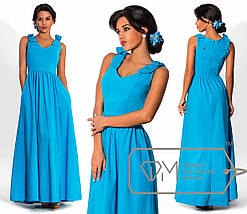 Платье с бантиками на плечах, фото 3