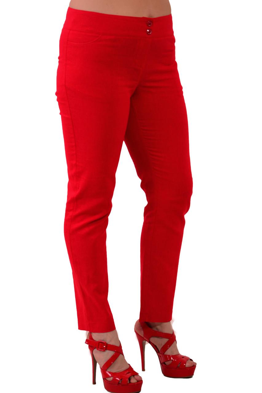 Красные джинсы брюки узкие , большие размеры , бр 001-1.