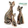 Статуэтки кошек из полистоуна 3 шт. ES329, фото 2