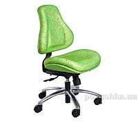 Кресло ортопедическое с эффектом памяти Y-128 Z обивка зеленая с абстрактным узором Mealux