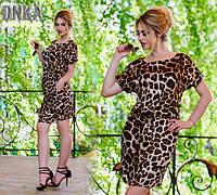Красивое женское платье, леопардовый принт