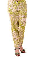 Зеленые брюки женские ,хлопок , бр 001-6.