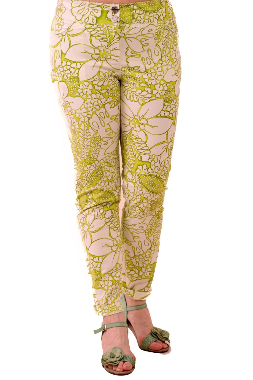 Зелені штани жіночі ,бавовна , бр 001-6.