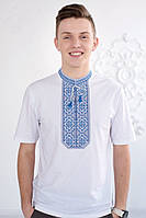 Стильная вышитая мужская футболка