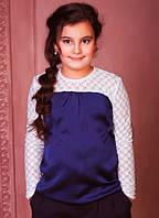 Блузка для девочки Baby Angel 664, цвет синий