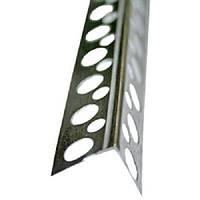 Защитный уголок 25 * 25 * 2500 алюминиевый перф.ПРЕМИУМ
