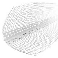 Угол пластиковый перфорированный с сеткой 3 м.