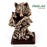 Статуэтка волк с волчонком на скалах ES051