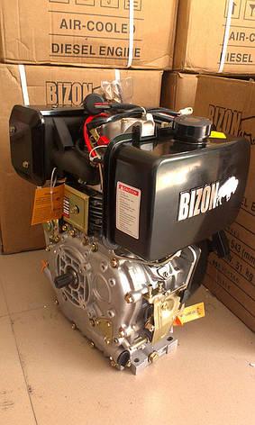 Дизельный двигатель BIZON 178F, под шлицы (Ф25 мм), фото 3