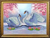 Схема для вышивания бисером Лебеди