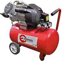 Компрессор 24л, 1.5HP, 1.1кВт, 220В, 8атм, 145л/мин, малошумный, безмасляный, 2 цилиндра