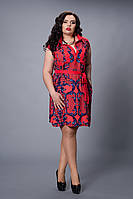 Платье мод №478-4, размер 48 красное