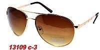 Мужские очки солнцезащитные avatar с коричневыми дужками