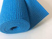 Коврик для йоги, фитнеса, пилатеса 6 мм голубой, фото 1