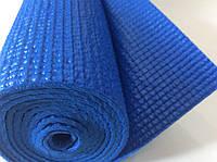 Йога мат 4 мм синій (килимок для йоги, гімнастики та фітнесу) не ковзний, фото 1