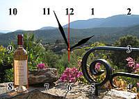 """Часы настенные """"В горах прованс""""- из стекла"""