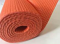 Йогамат 4 мм оранжевый (коврик для йоги и фитнеса)