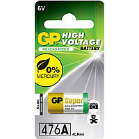 Батарейка высоковольтная GP 476A-U1 Alkaline 4LR44 (544, PX28A, 6V, блистер)