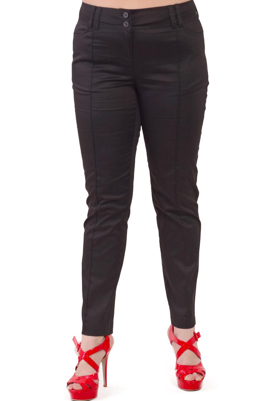 Літні брюки чорні бавовна,48-56, Бр 001-15.