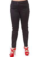 Летние брюки черные хлопок,48-56, Бр 001-15.