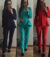"""Костюм пиджак + брюки """"Двойка"""" цвета"""