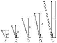 Комплект телескопического подвешения типа CS-3, 4 шт., фото 1