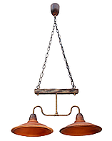 Светильник подвесной Gryb-Light, LOFT Plate PL0115-2, керамика, дерево.