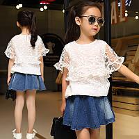 Белая детская блузка