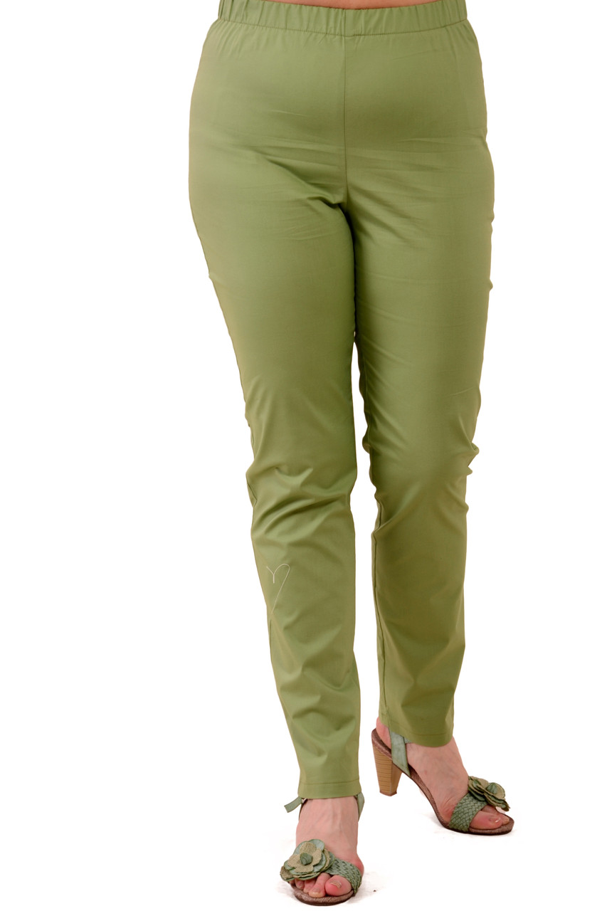 Зелені літні брюки жіночі, 46-54, Бр 015-3.