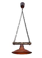 Светильник подвесной Gryb-Light, LOFT Plate PL0115-1, керамика, дерево.
