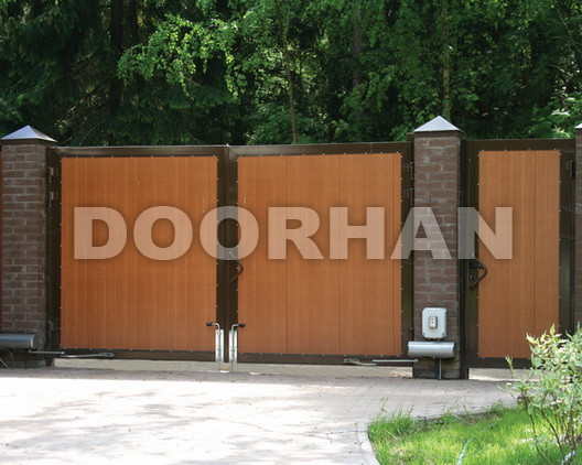 Распашные ворота Doorhan из сэндвич-панелей