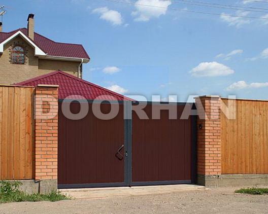 Распашные ворота из сэндвич-панелей Doorhan