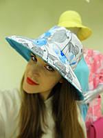 Льняная шляпка с принтом в цветы, фото 1