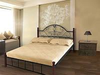 Кровать Анжелика 180х200 метал на дерев. ножках