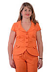 Оранжевые льняные летние брюки женские, 46-54, Бр 652-1., фото 5