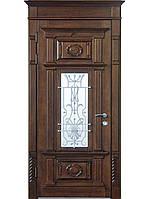 """Элитные входные двери для коттеджа (массив + ковка) модель """"Аристократ 1"""""""