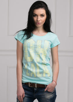 Женская молодежная футболка мята
