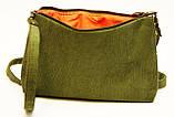 Жіноча сумочка Маки на зеленому, фото 3