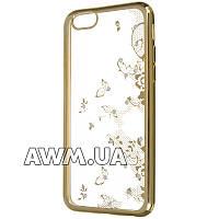 Чехол-накладка Victoria's Secrets Flowers ''№1'' для Apple iPhone 6 / 6S золотой