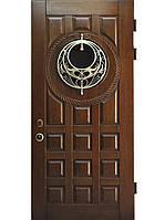 """Элитные входные двери для коттеджа (массив + ковка) модель """"Пектораль 1"""""""