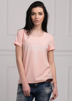 Стильная женская блуза розового цвета