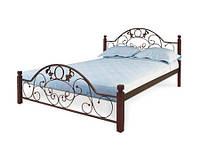 Кровать Франческа 140 х 200 металл на дерев. ножках