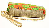 Женская сумочка Маки на зеленом с бежевой спинкой, фото 3