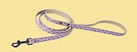 Поводок Дрим Пет  1,2м/10мм для собак, рисунок - сердечки, фиолетовый