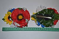 Яркие заколки-цветы